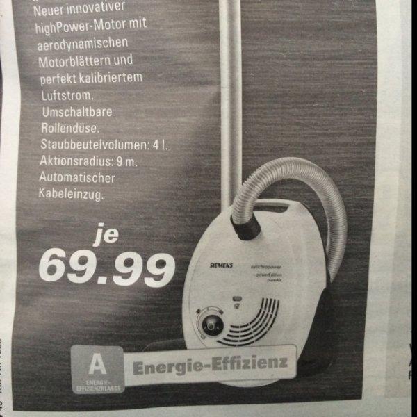[lokal Edeka Wickede ?] Siemens VS06A230 Bodenstaubsauger