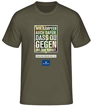 """Gratis Bundeswehr Shirt mit """"witzigen"""" Sprüchen"""