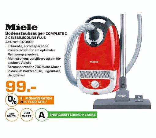 (Lokal) MIELE Complete C2 Celebration EcoLine Plus für 99€ @ Saturn Kleve