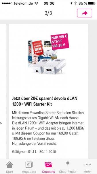 20€ Rabatt auf devolo dLAN 1200+ WiFi Starter Kit