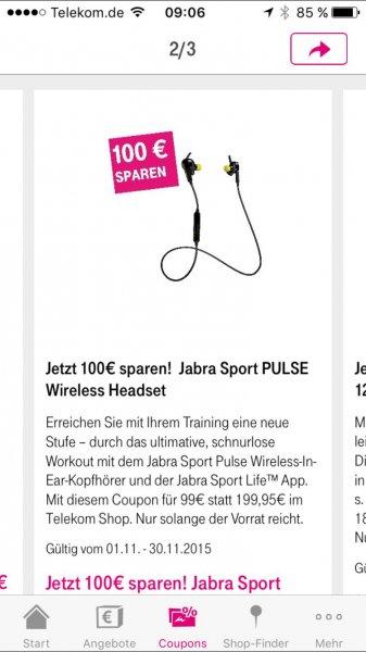 100€ Rabatt auf Jabra Sport PULSE Wireless Headset