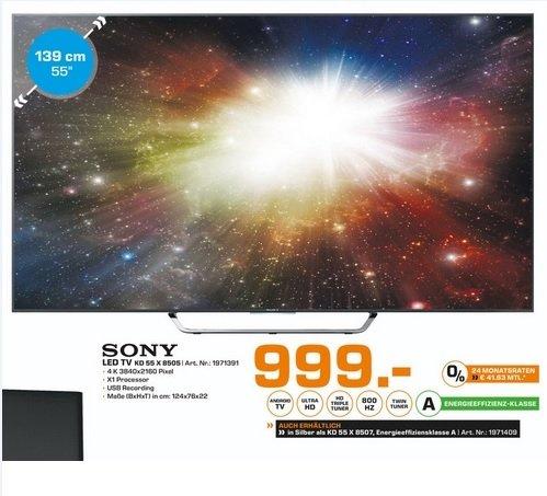 (Lokal) SONY KD55X8505 CBAEP für 999€ @ Saturn Dresden & Ludwigfshafen