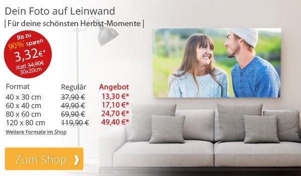 meinXXL Fotoleinwand schon ab 3,32€ - 30x20cm oder 120x80 -49,40€