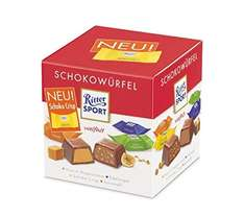 [Amazon.de-Prime] Ritter Sport Schoko- Würfel-Box Standard, 8er Pack (8 x 176 g)