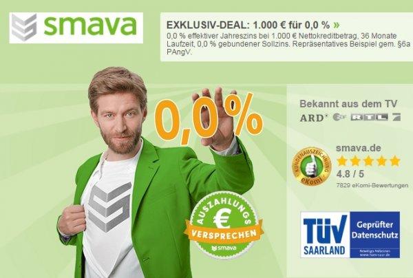 1.000€ Kredit für 0,0 Prozent – SMAVA schreibt Geschichte!