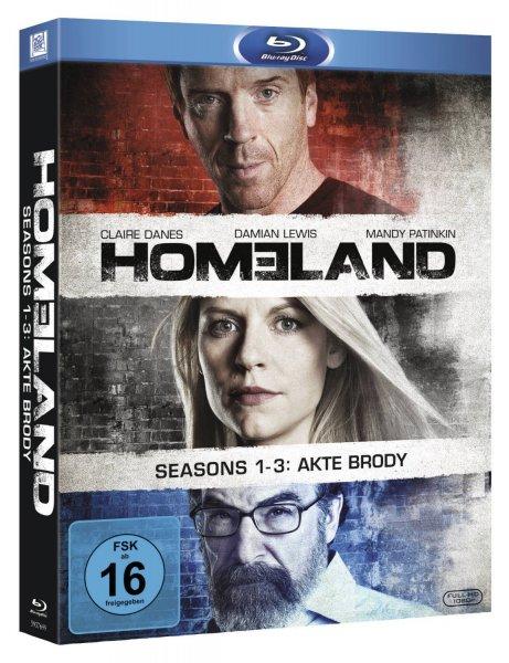 (amazon.de) Homeland 1-3 (exklusiv bei amazon.de) auf 9 Blu-rays für 39,97€