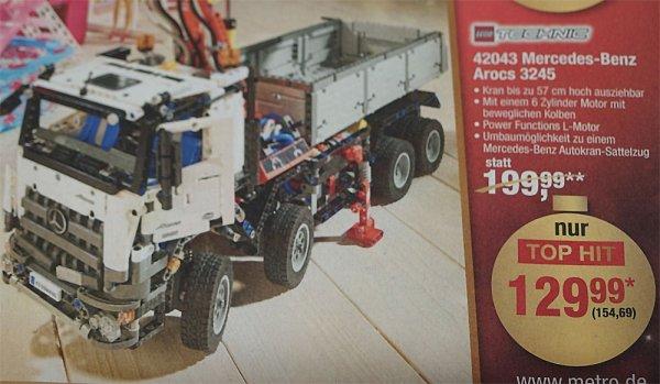 LEGO 42043 Mercedes Benz Arocs 3245 (METRO) für 154,69 Euro brutto - nur für Gewerbetreibende -