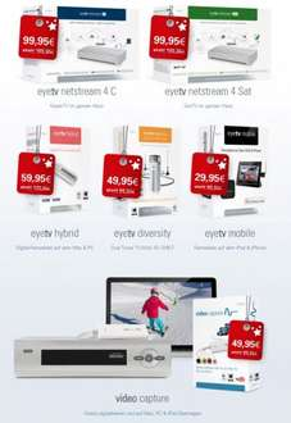 fast alle Elgato EyeTV 50% Preisnachlass / Weihnachtsangebot