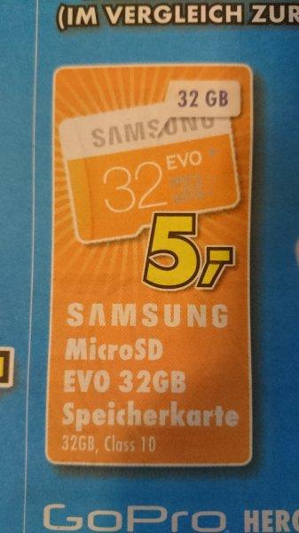 [Lokal Vogelsberg] Samsung Speicherkarte SDHC 32GB GB EVO UHS-I Grade 1 Class 10