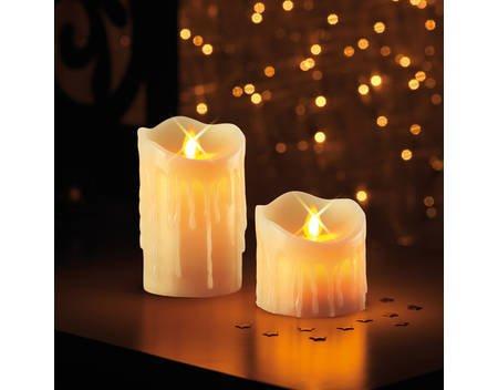 Kerzenzauber Echtwachskerzenset 2tlg. künstliche Flamme Flackereffekt Kerzen B-Ware @allyouneed