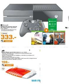 [Lokal Saturn Flensburg] Xbox One 500GB + Forza Horizon 2 & Halo 5 + COD Black Ops 3 + 3 Monate Live Gold für 333,-€****AVM FRITZ­BOX 7490 Wire­less N Router/Modem 1300 Mbps 4-Port 100/1000 ADSL VDSL für 159,-€