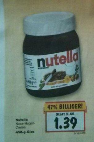 [Lokal Neuss] Nutella 450g 1,39 Euro