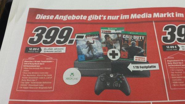 Xbox One 1TB + 3 Spiele (ab 6.11.)