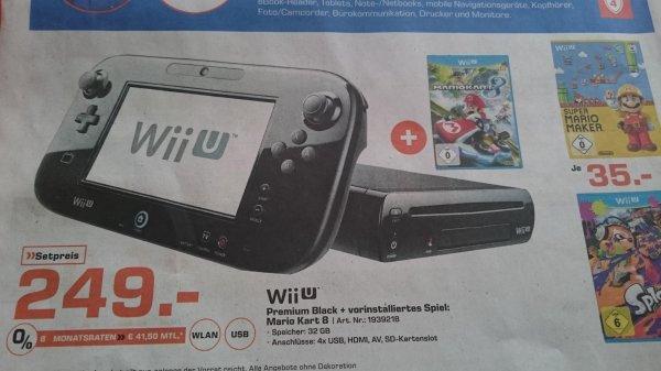 Wii U Premium Black 32 GB + Mario Kart 8 für 249 € bei Saturn Ingolstadt