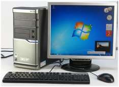 "PC Komplett System Acer Dual Core + 19"" TFT Monitor + Windows 7 Home 64Bit nur 99,- incl. Versand"