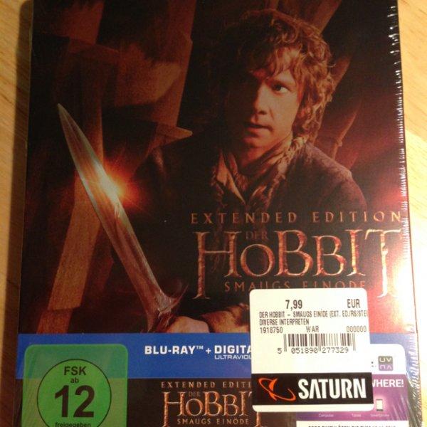 [Lokal Saturn BS] Der Hobbit Smaugs Einöde Extended Edition (Blu-ray - Steelbook) für 7,99€