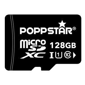 Poppstar microSDXC UHS-1 128 GB Speicherkarte Class 10 inklusive SD-Adapter (Superpunkte 13,50 €) @Rakuten