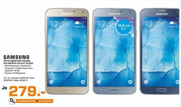 (Lokal) Samsung Galaxy S5 Neo für 279€ @ Saturn Bielefeld