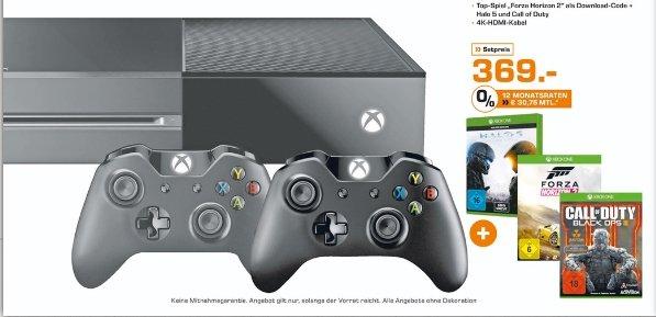 [Lokal Saturn Oberhausen] XBOX One Bundle Forza Horizon2 500GB + Halo 5 + COD Black Ops 3 + 2. Controller für 369,-€