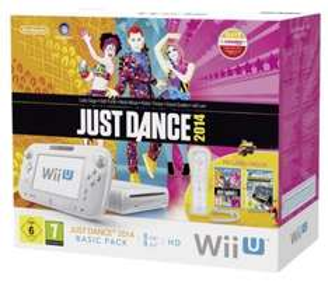 Nintendo Wii U Just Dance 2014 Basic Pack, weiß + Wii U Gamepad + Fernbedienung + 57,25€ in Superpunkten