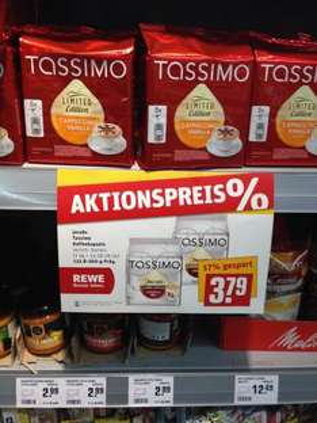 [Rewe Lokal] - Rosenthal - Jacobs Tassimo Kaffeekapseln verschiedene Sorten - 3,79 €