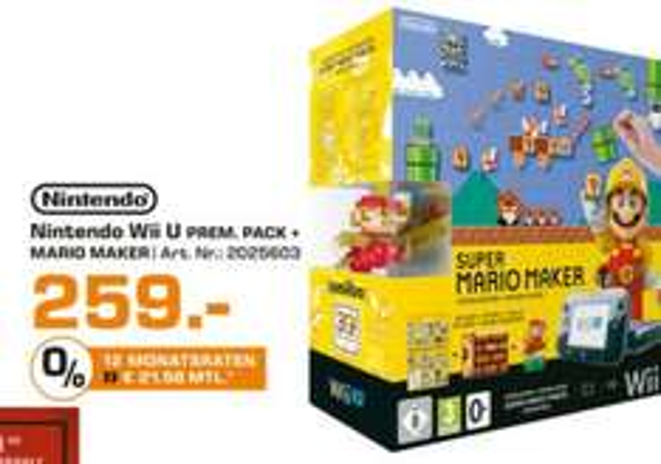 [Lokal Saturn Essen] Nintendo Wii U Premium Pack mit Super Mario Maker und Amiibo Figur - 259,00 EUR