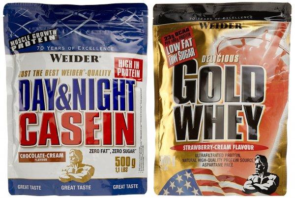 [AmazonDEPrime] Weider 2er Pack Gold Whey und Casein - ab 11,98 EUR