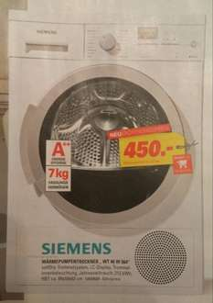 Wärmepumpentrockner Siemens Wt 46 w 564