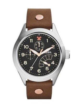 (Uhrwerk45.de) Fossil Herren-Armbanduhr Aeroflite Leder CH2939  [Idealo: ab 108€]
