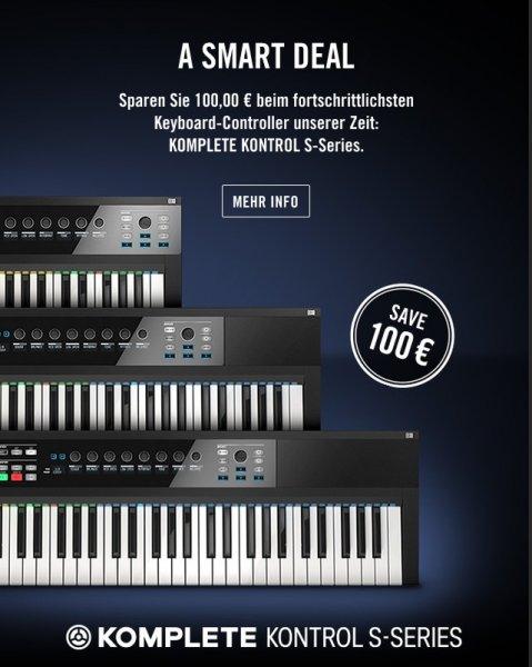 100€ Preisvorteile für KOMPLETE KONTROL-Keyboards