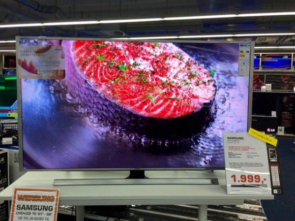 Samsung SUHD 4K UE55JS8090TX + Samsung 200€ Cash Back Aktion Saturn Braunschweig