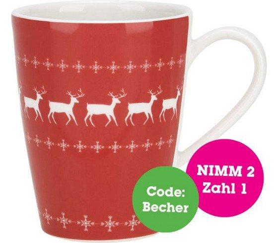 [online] mömax: 2 für 1 - Villeroy&Boch X-mas Becher 1+1 // für 3 Tassen: 7,5€ keine Versandkosten