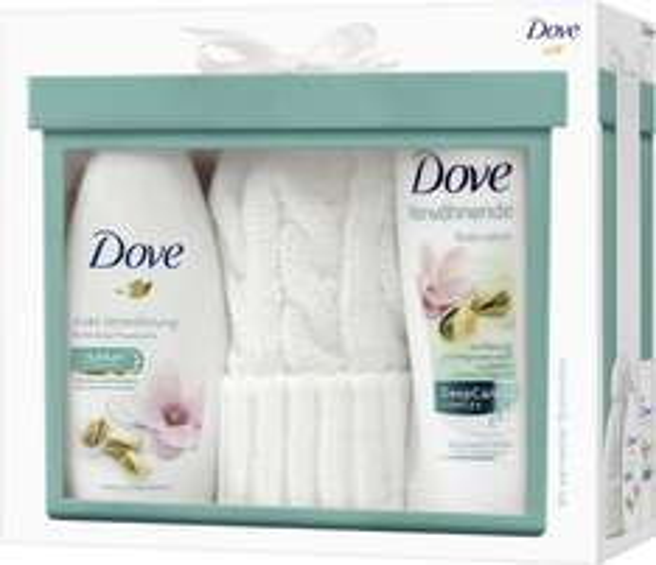 Weiße Wollmütze + Dove Body Lotion + Duschgel ab 7,19€ @Amazon