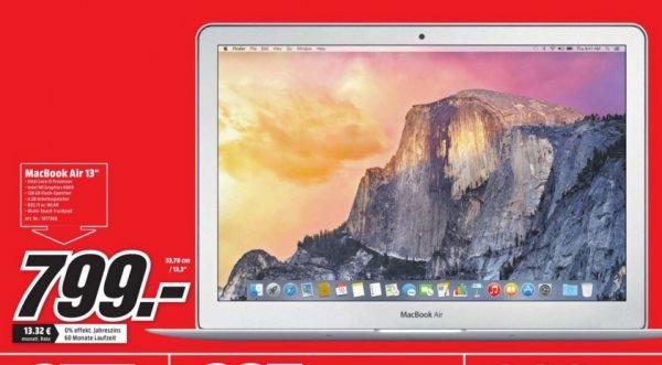 "(Lokal) APPLE MacBook Air 13"" MJVE2D/A für 799€ @ Mediamarkt Bielefeld"