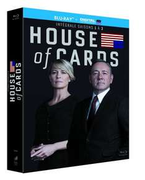 (Amazon.fr) House of Cards - Season 1+2+3 [Blu-ray] für 29,00€ inkl. Versand (nur S2+S3 mit dt. Ton)