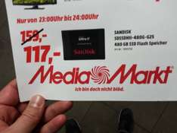 (lokal)SanDisk SDSsDHII 480G G25 @ Mediamarkt Stuttgart