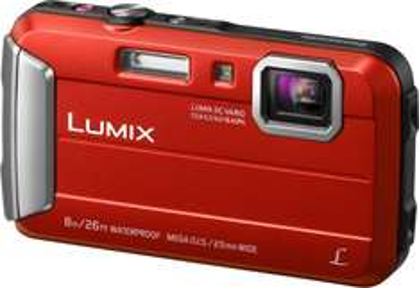 Panasonic DMC-FT30EG-R Lumix Digitalkamera (6,7 cm (2,6 Zoll) LCD-Display, CCD-Sensor, 16,1 Megapixel, 4-fach opt. Zoom, bis 8 m wasserdicht) rot für 106 € > [saturn online offers] > Vsk frei