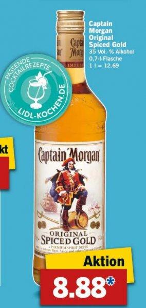 Lidl ab 09.11.: Captain Morgan (0,7L) für 8,88 Euro