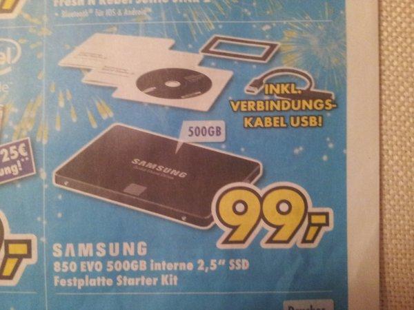 [Lokal Trier-Konz] SSD Samsung 850 Evo 500GB inkl. Starter-Kit für 99€