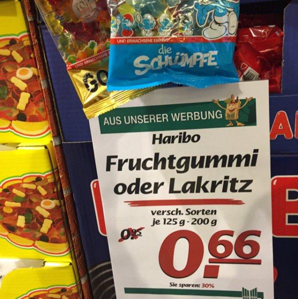 [Marktkauf] Haribo Fruchtgummi oder Lakritz versch. Sorten 125-200g