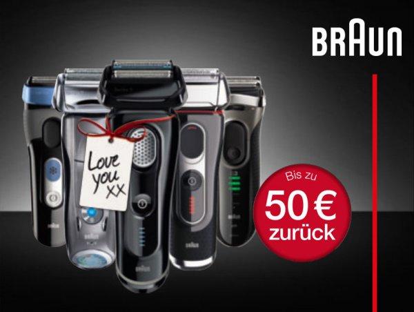 [Alternate] Braun Rasierer bis zu 20-50€ Cashback