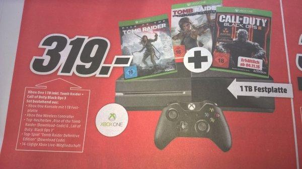(MM Bremen Waterfront)Xbox One 1TB inkl 3 Spielen FSK18!