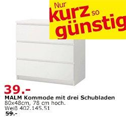 ABGELAUFEN[lokal Ikea Duisburg] Malm Kommode 39€ statt 59€