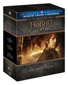 Der Hobbit Trilogie - Extended Edition [3D Blu-ray] (vermutlich nur O-Ton) @amazon.it