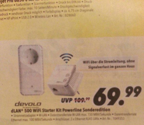 [Lokal Schwerin] Devolo 500 wifi starterkit Powerline Sonderedition im Medimax