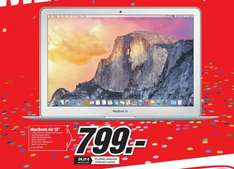 "(Lokal Mediamarkt Braunschweig) Apple MacBook Air 13"" MJ­VE2D/A Note­book/ 1,6GHz/ 4GB Ram/ 128GB SSD/ 2015er für 799€"