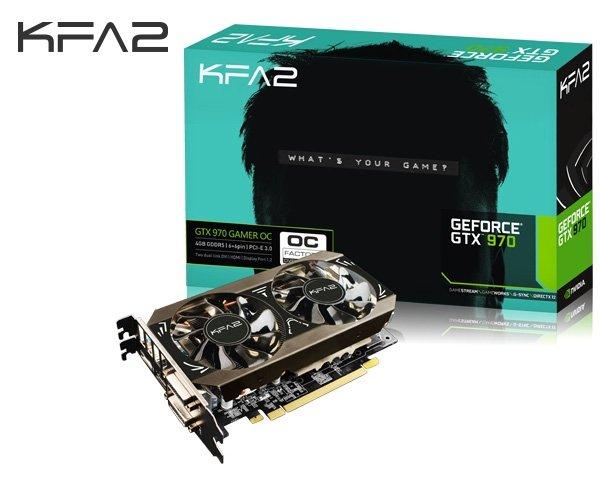 [One] 4096 MB GF GTX970 KFA2 Gamer OC, GDDR5, 2x DVI, HDMI, DisplayPort