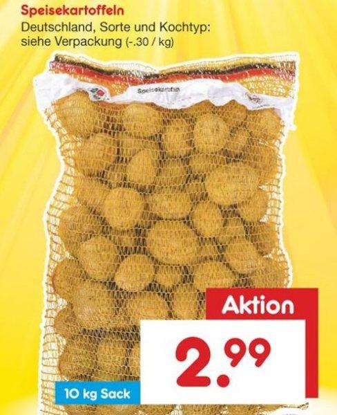 [Netto-MD Samstagskracher] 10 kg Speisekartoffeln aus Deutschland für 2,99 € am 14. 11. 2015