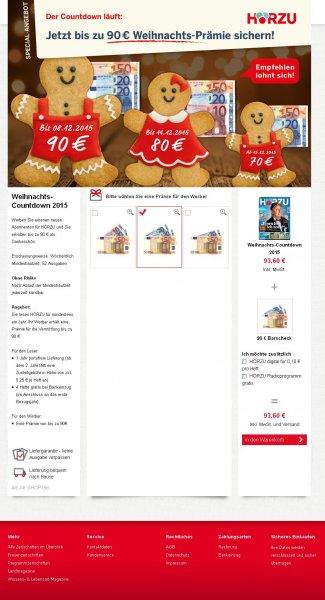 Hörzu Jahresabo für 3,60 EUR durch Verrechnungsscheck