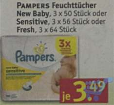 [Rossmann] Pampers Feuchttücher (sensitive, fresh) für 1,34 Euro (Angebot + Coupon)